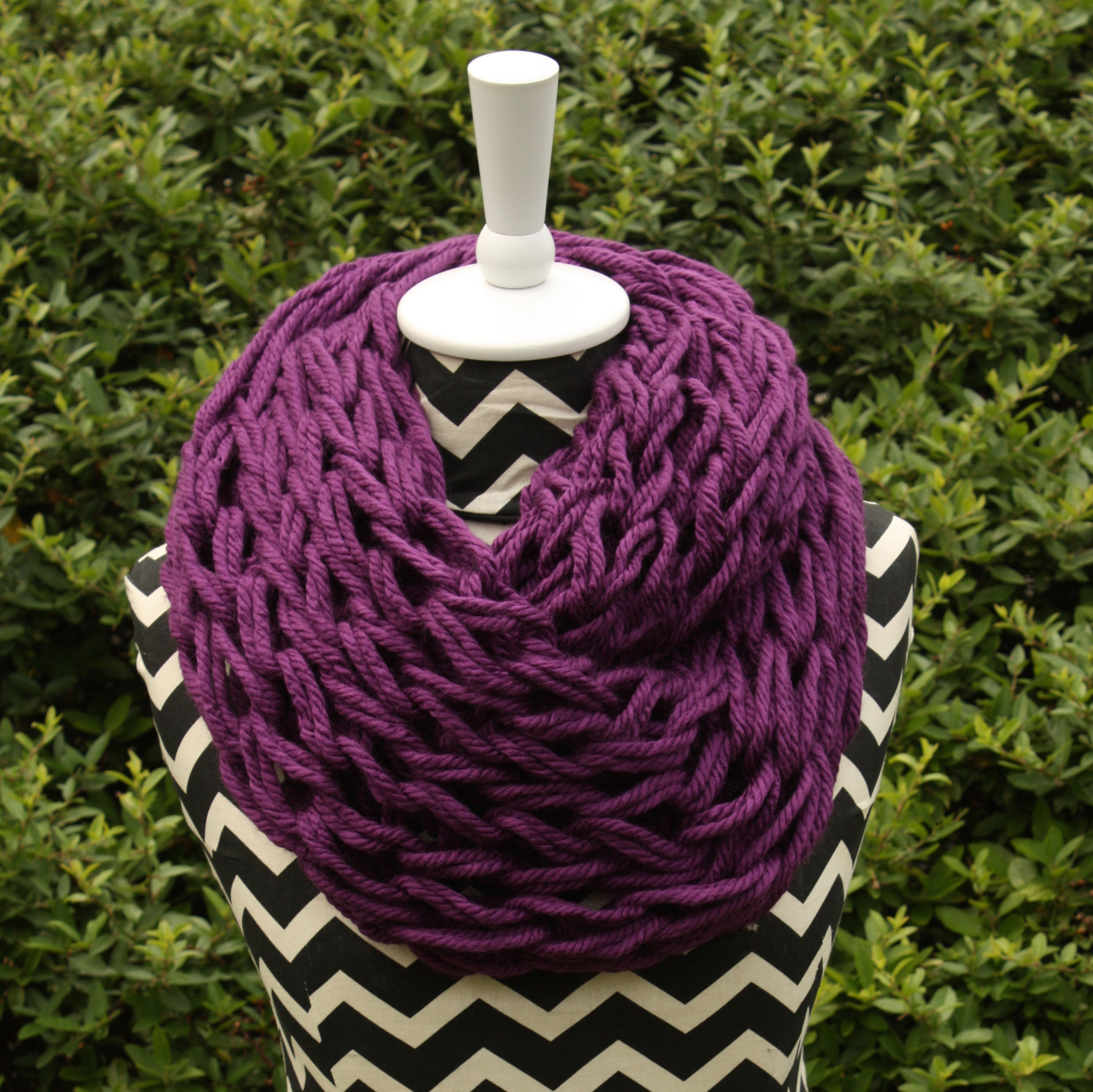 Purple Arm Knit Scarf · Suemouily · Online Store Powered by Storenvy