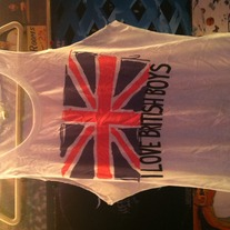 I Love British Boys Cut Tank Top Large One Direction