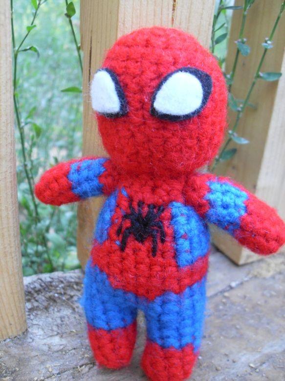 Amigurumi Spiderman Patron : Spiderman amigurumi patron gratis - Imagui
