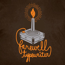 Farewell Typewriter candle joystick men's T-shirt