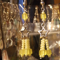 Yellow Star Charm Earrings!