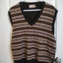 The Fox Collection Brown Wool Vest XL