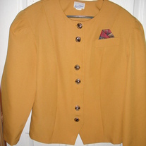 Good Times Mustard Yellow Blazer Sz 18
