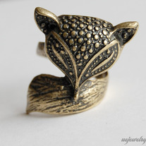 SALE-Fox Ring - Thumbnail 2
