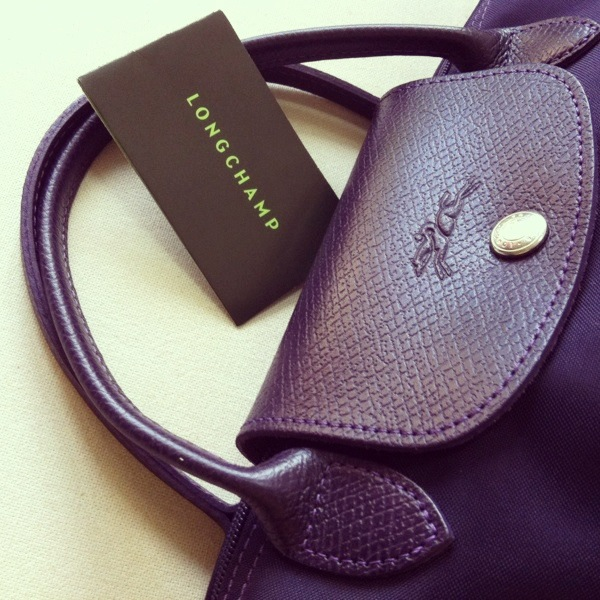 ... LONGCHAMP Small Bilberry Le Pliage Insect Badges Bag - Thumbnail 3 ... 885f37fec1a3b