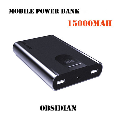 Obsidian mobile power bank for iphone / ipad / cell phone 15000mah