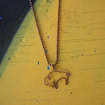 Hammered Copper Buffalo Necklace