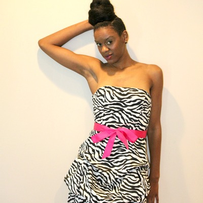 Elegant zebra print dress