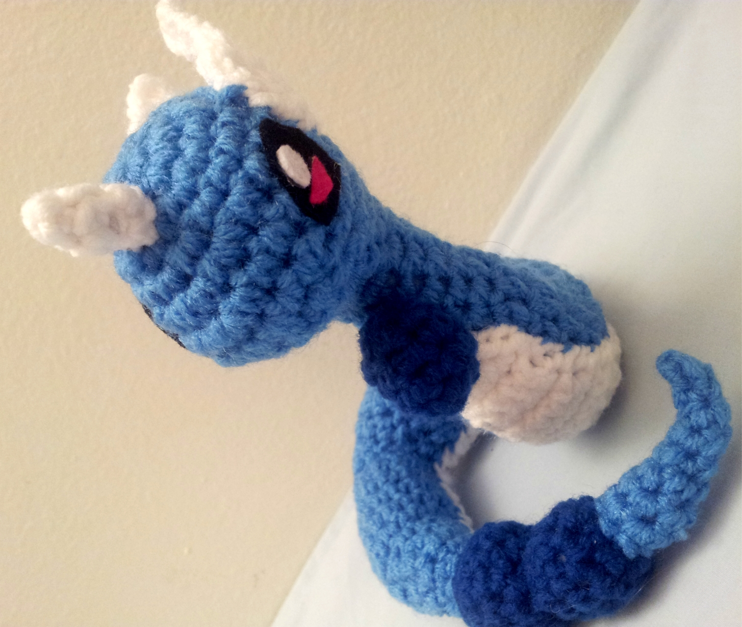 Dragonair Amigurumi Pattern : Dragonair Inspired Crochet Amigurumi Doll - Stuffed/Plush ...