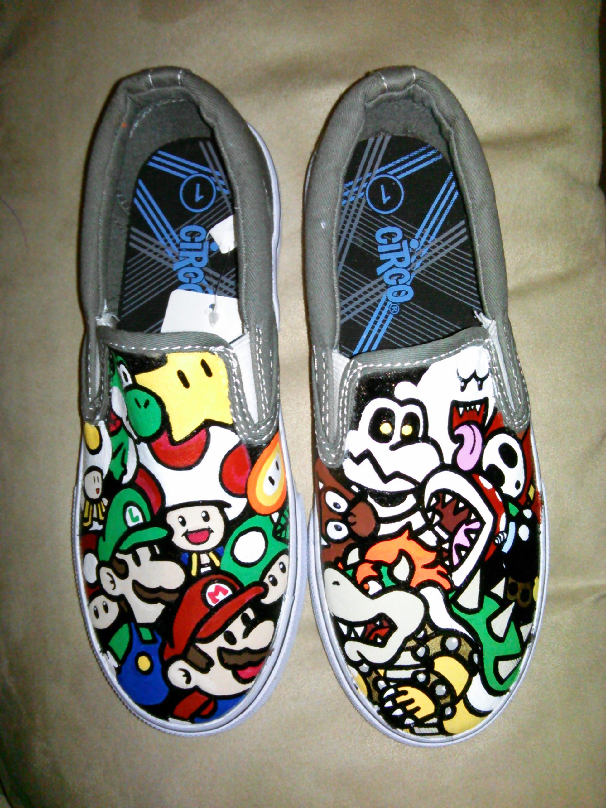Good Vs Bad Mario Bros Shoes On Storenvy