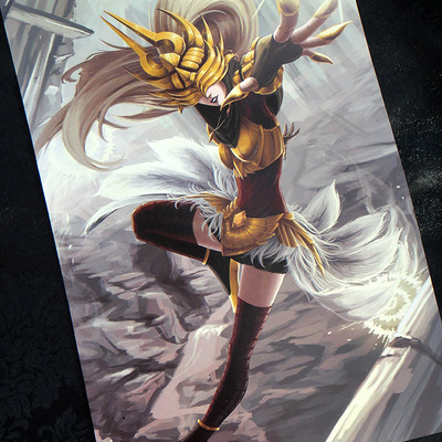 "Justicar syndra: 11""x17"" poster"