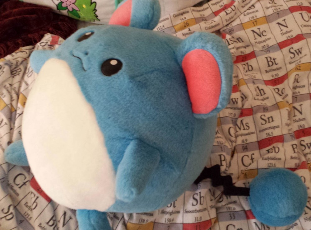 Marill hasbro 1 1 life size pokemon plush rare on storenvy for Life size shark plush