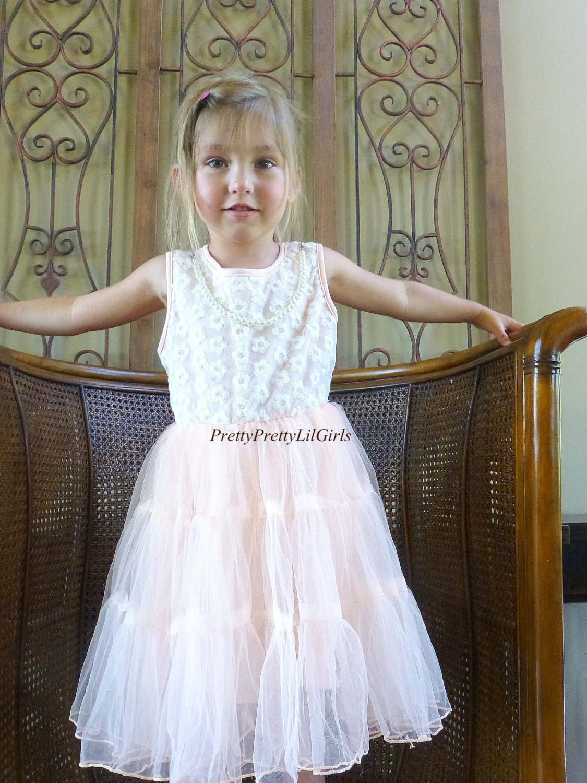 Girls Dress Girls Lace Dress Blue Dress Flower Girl Dress