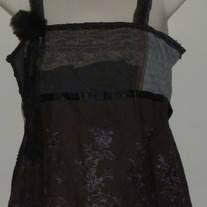 Black/Brown Lace Tank Top-Mimi Maternity Size Small  CLTE1