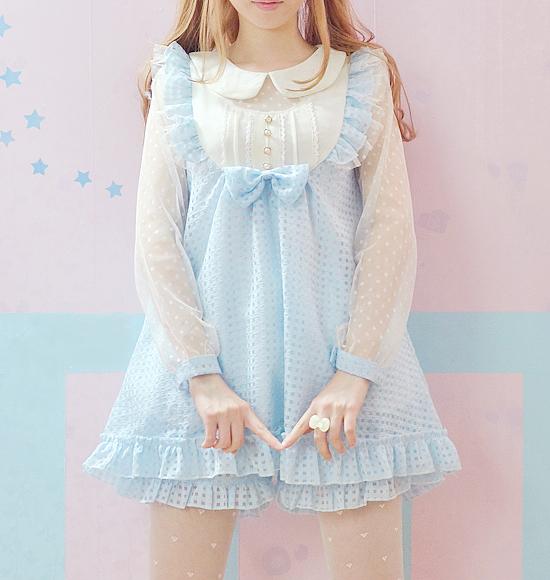 Pastel blue babydoll dress with bloomers · Pastel wardrobe ...