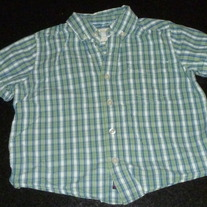 Green/Blue Plaid Shirt-The Children's Place Size 4T