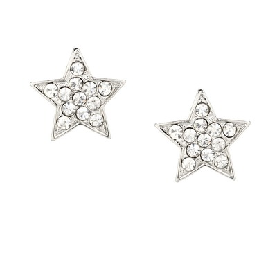 Starry night star studs - silver