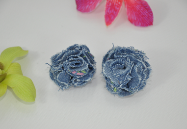 Darkblue_denim_rose_cloth_stud_earring_original