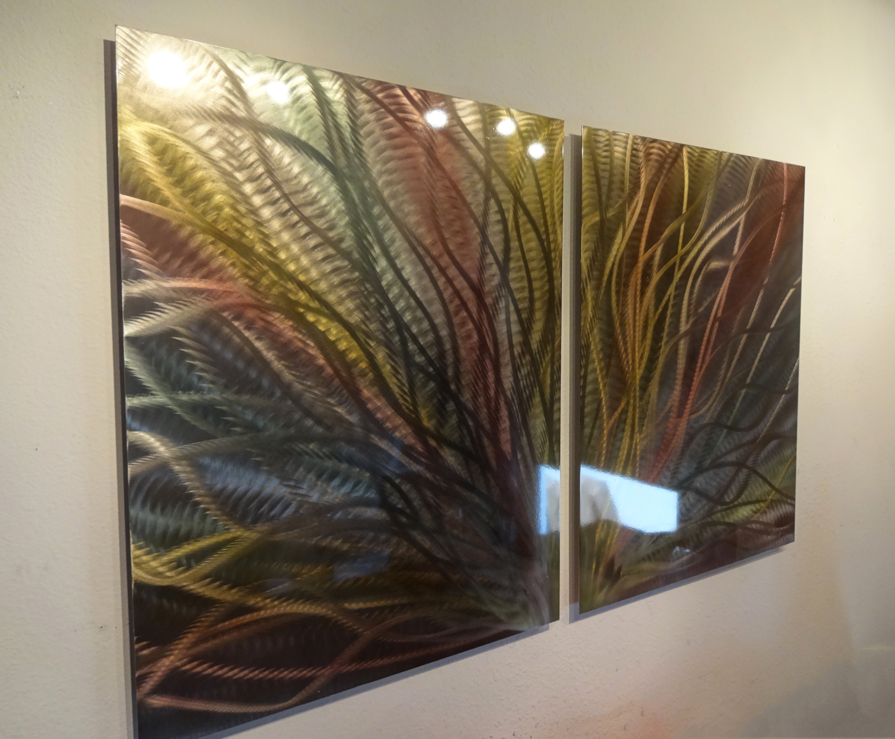 Radiance bronze abstract metal wall art contemporary for Bronze wall art