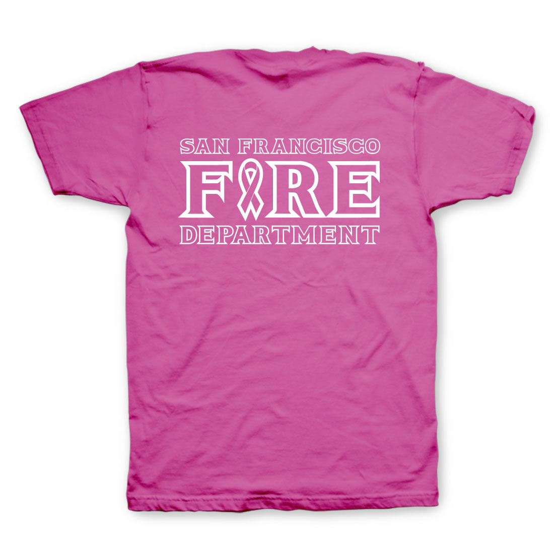 SFFD Firefighters for a Cure | 2014 Women's PINK Shirt-NEW LOGO ...