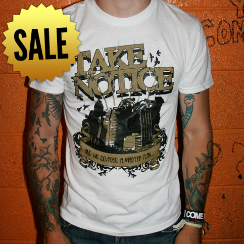 TEE | Take Notice City Skyline (White) *SALE*