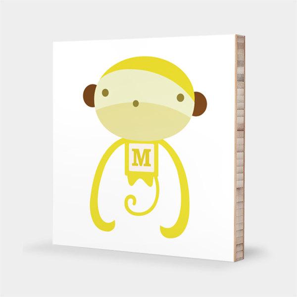 Tofufu | M for Monkey : ABC Block Bamboo Wall Art Series // Alphabet ...