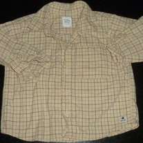 Yellow Long Sleeve Shirt with Buttons/Collar-Baby Gap Size 2T