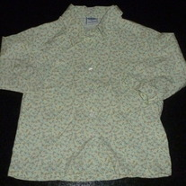 Green/Blue/Yellow 3/4 Sleeve Length Shirt with Buttons/Collar-Old Navy Size 5