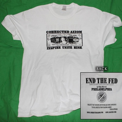 Co-ax/end the fed t-shirt
