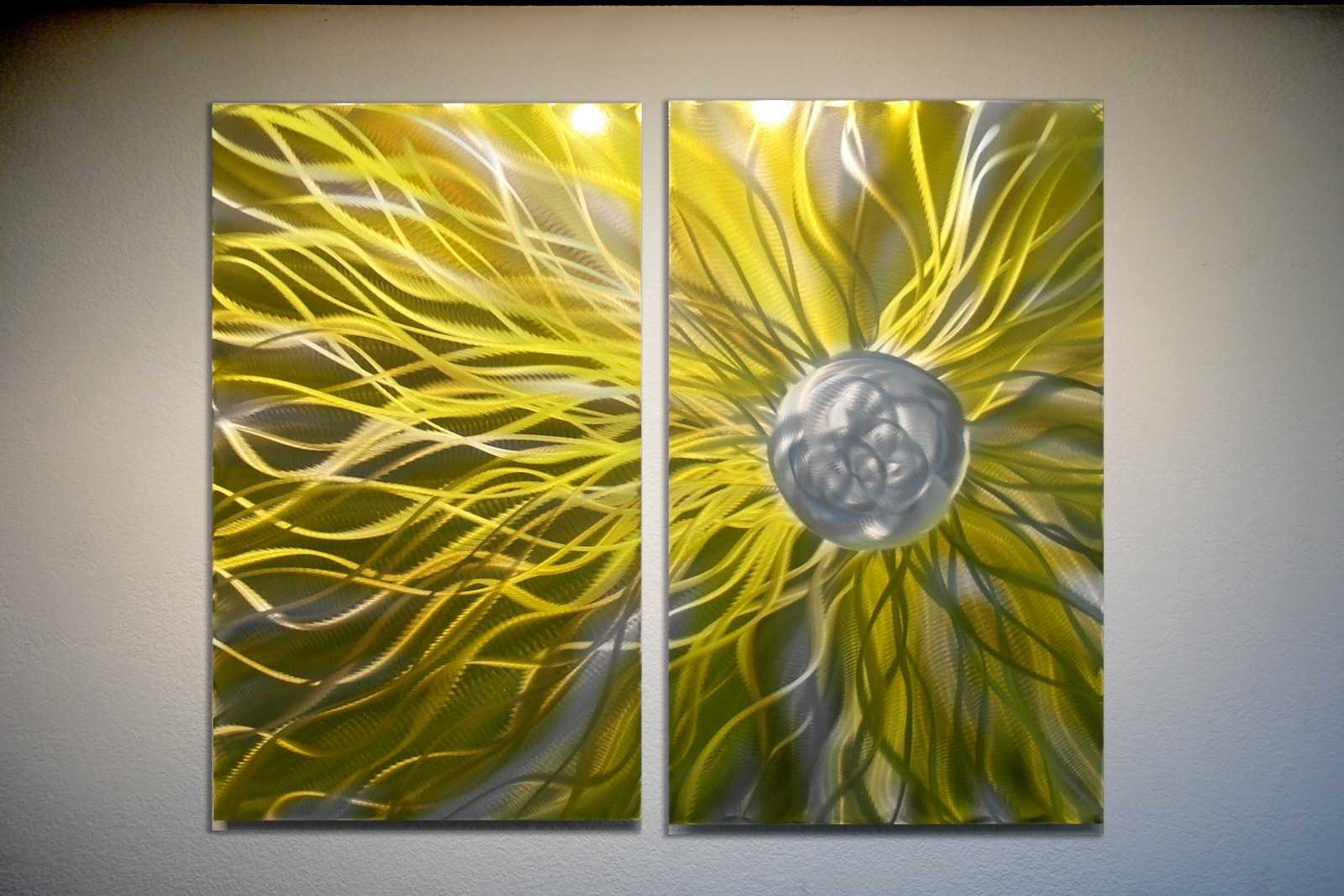 Solare Yellow - Abstract Metal Wall Art Contemporary Modern Decor ...