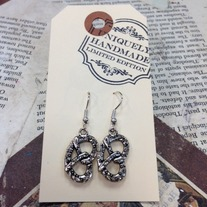 Silver Pretzel Earrings