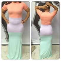 PASTEL COLOR COATED DRESS