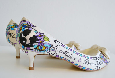 Ponko World | Wedding Shoes - Bridal Shoes - Hand painted Heels ...