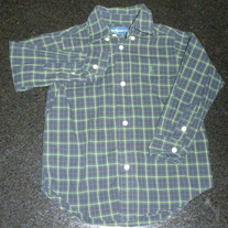Navy/Plaid Shirt-Ralph Lauren Polo Size 3/3T