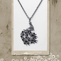 Black Peacock Necklace