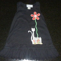 Black Dress with Flower/Cat-Beckyanne (Boutique) Size 24 Month