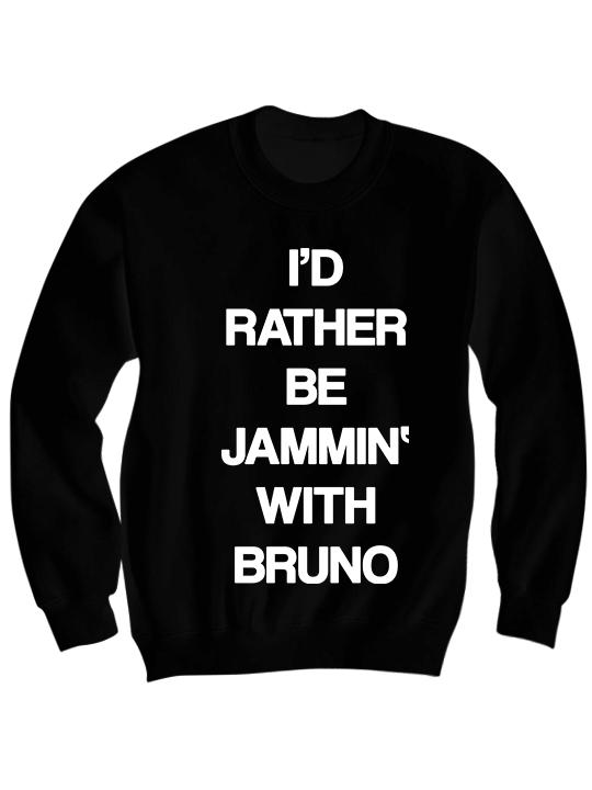 BRUNO MARS SWEATSHIRT JAMMIN' TO BRUNO #BRUNOMARS BRUNO MARS SHIRT ...
