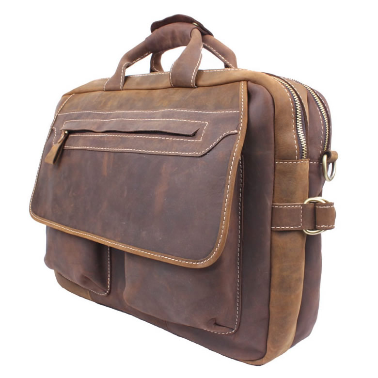 s handmade vintage leather briefcase leather