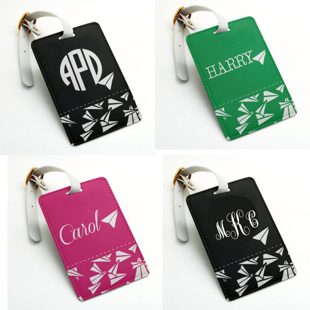 Airplane Plane Personalized name tag, Luggage Tag, Bag Tag, Travel ...