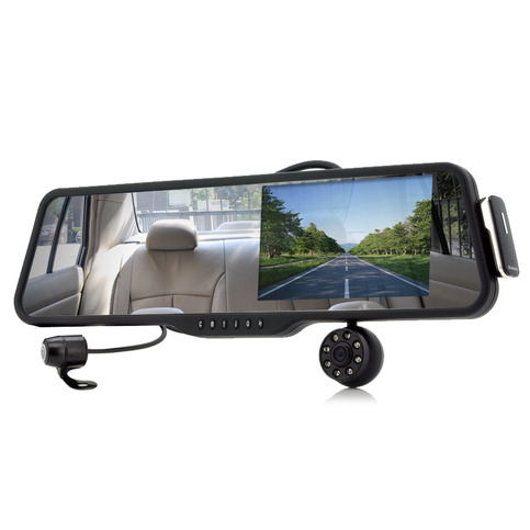 car rearview mirror with front and rearview camera and. Black Bedroom Furniture Sets. Home Design Ideas