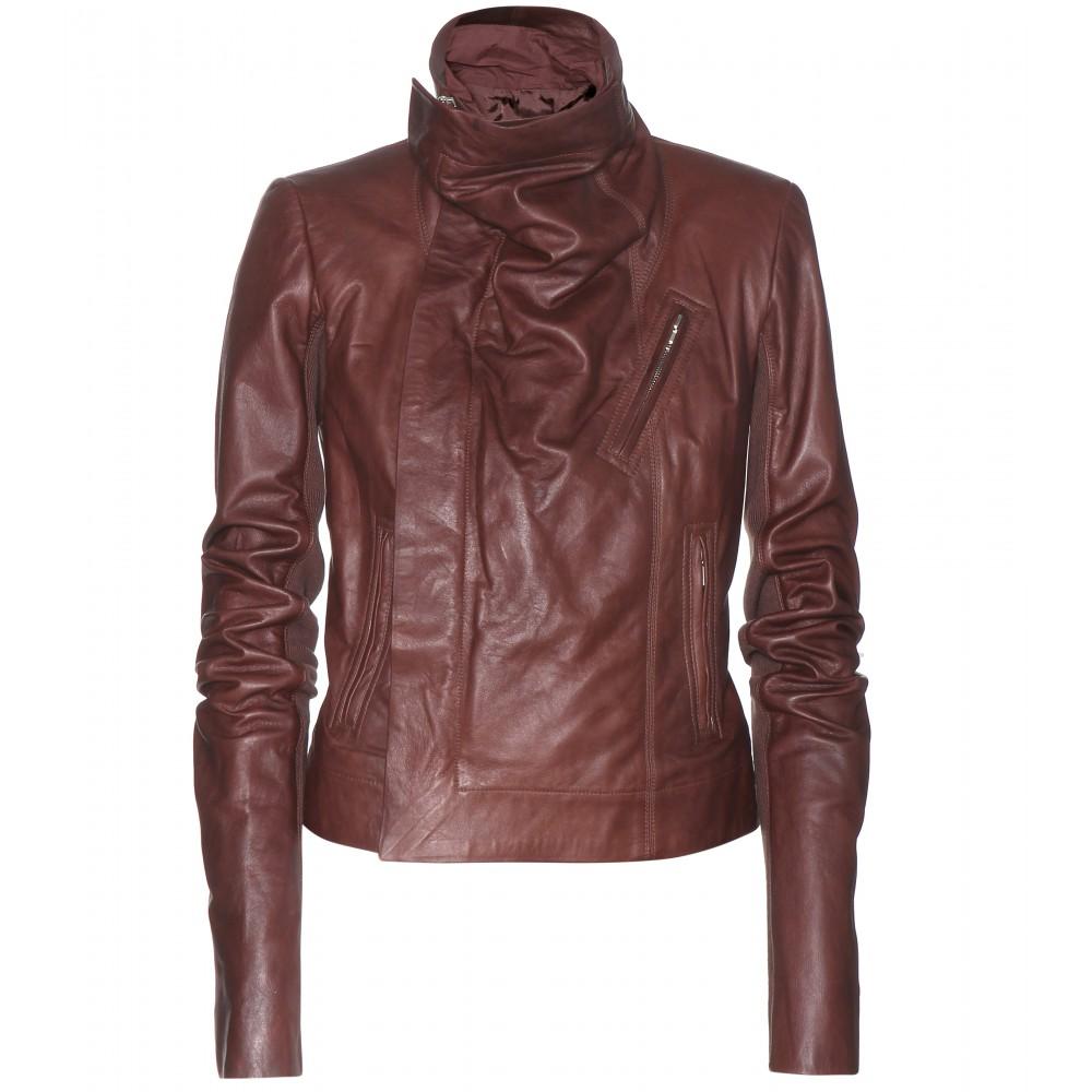 Designer leather biker jacket