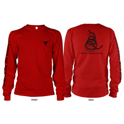 Red sidewinder long-sleeved shirt