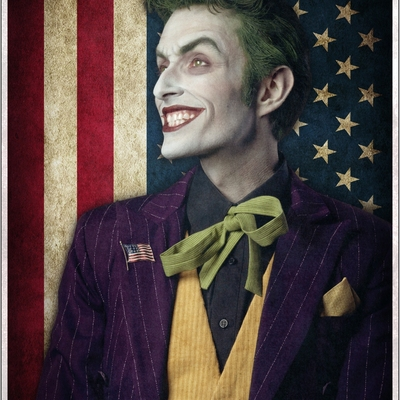 """joker for president"" - 11x17 autographed poster"