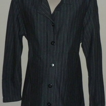 Gray Pin Stripe Jacket-In Due Time Maternity Size XL
