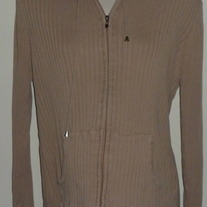 Tan Hooded/Zip Sweater-Lilo Maternity Size Large