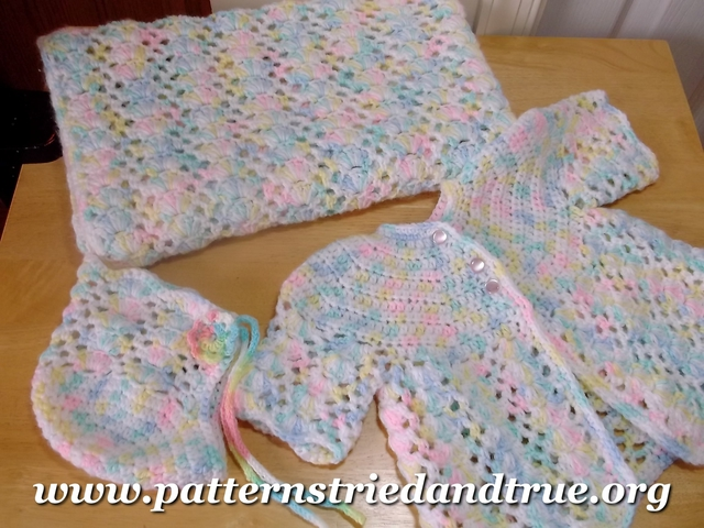 Layer Crocheted Pattern Baby Girl Skirt : Crochet Pattern DIY for Baby Layette: Hat, Sweater ...