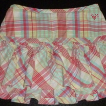 Plaid Skirt-Justice Size 8