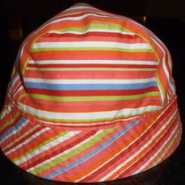 Multi Stripe Hat-The Children's Place Size 7-8