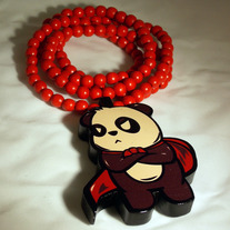 Red Supa Panda GoodWood Necklace