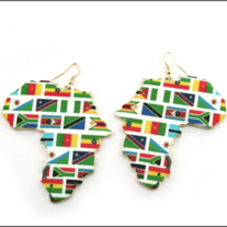 Africa Flag Earrings